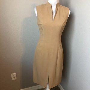 Calvin Klein Pleated Sleeveless Sheath Dress